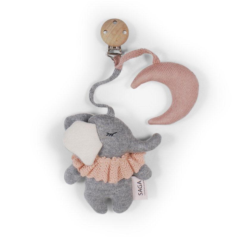 Saga Copenhagen - Ratu rotaļlieta zilonītis rozā krāsā (Rose)