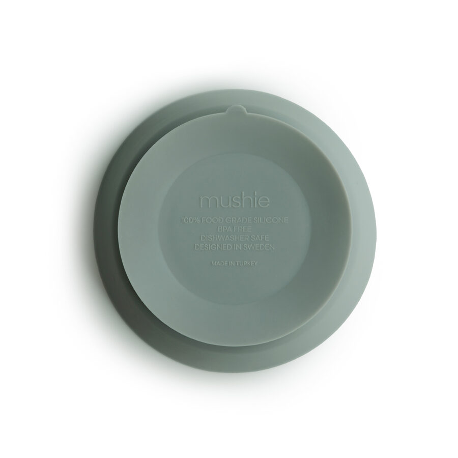 Mushie - silikona bļodiņa / Cambridge Blue