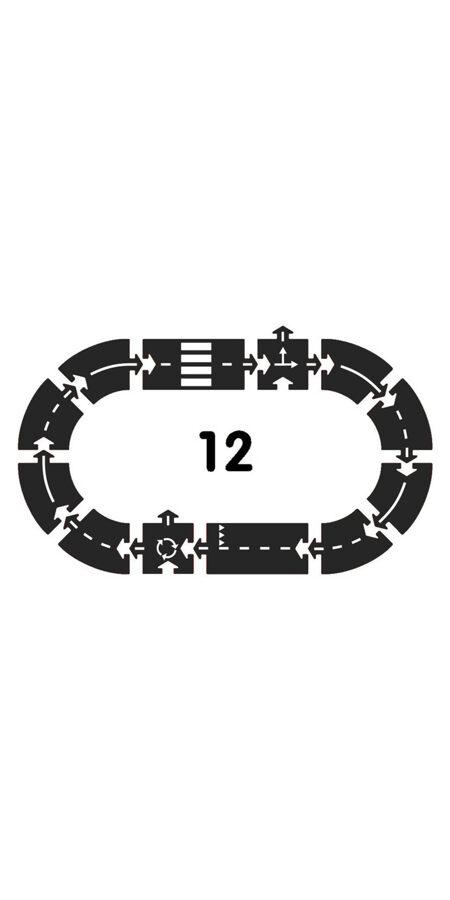 Waytoplay - Ringroad gumijas celš (12 gab.)