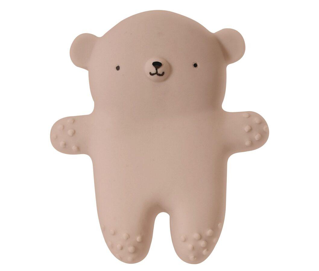 EEF Lillemor Dabīgas gumijas lācis -  bēšā krāsā