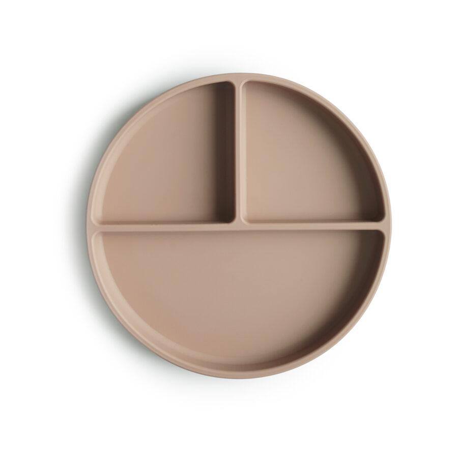 Mushie - silikona šķīvis / Natural