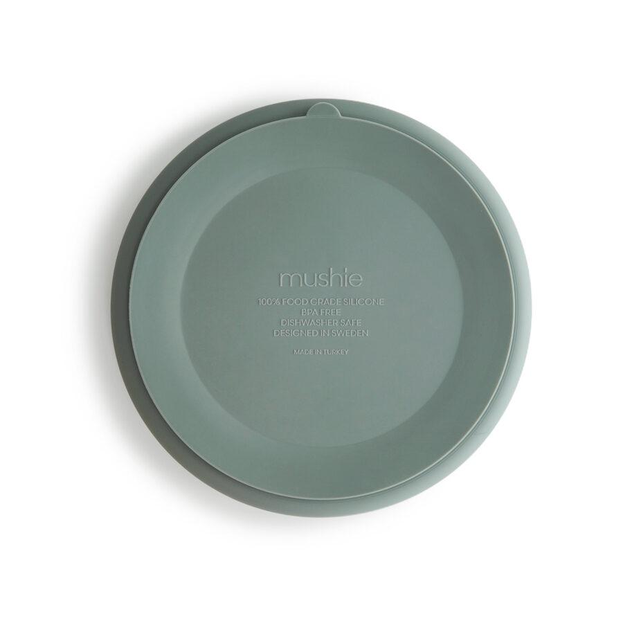 Mushie - silikona šķīvis / Cambridge Blue