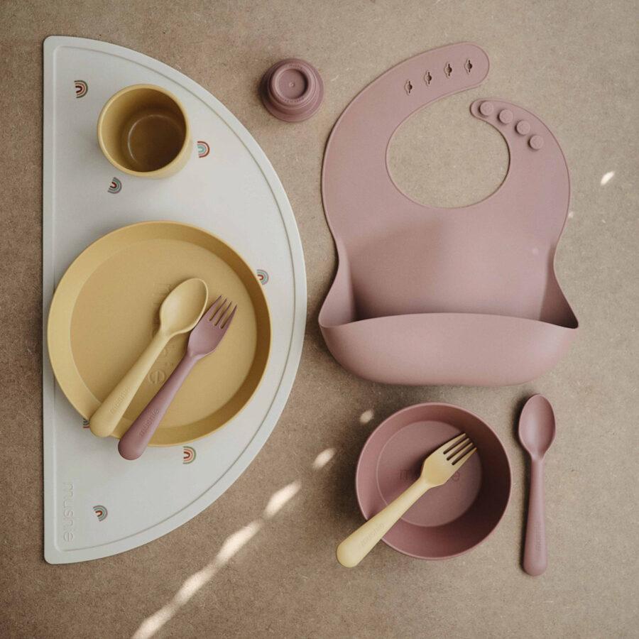 Mushie - šķīvis 2 gb / Mustard