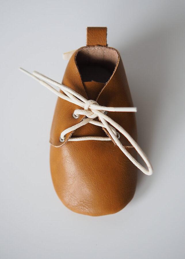 Oxforda tipa ādas zābaciņi - Bronze brown 12 cm / 13 cm