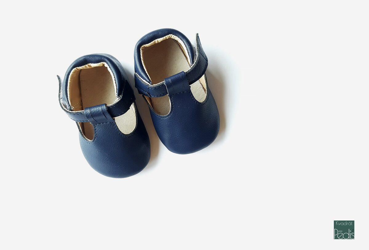 Ādas sandalītes - Navy blue