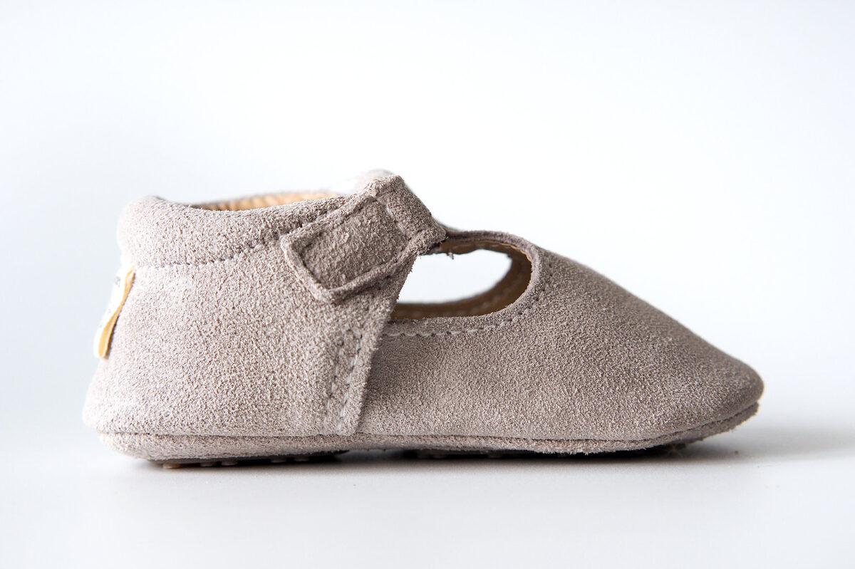 Zamšādas sandalītes - Fog gray