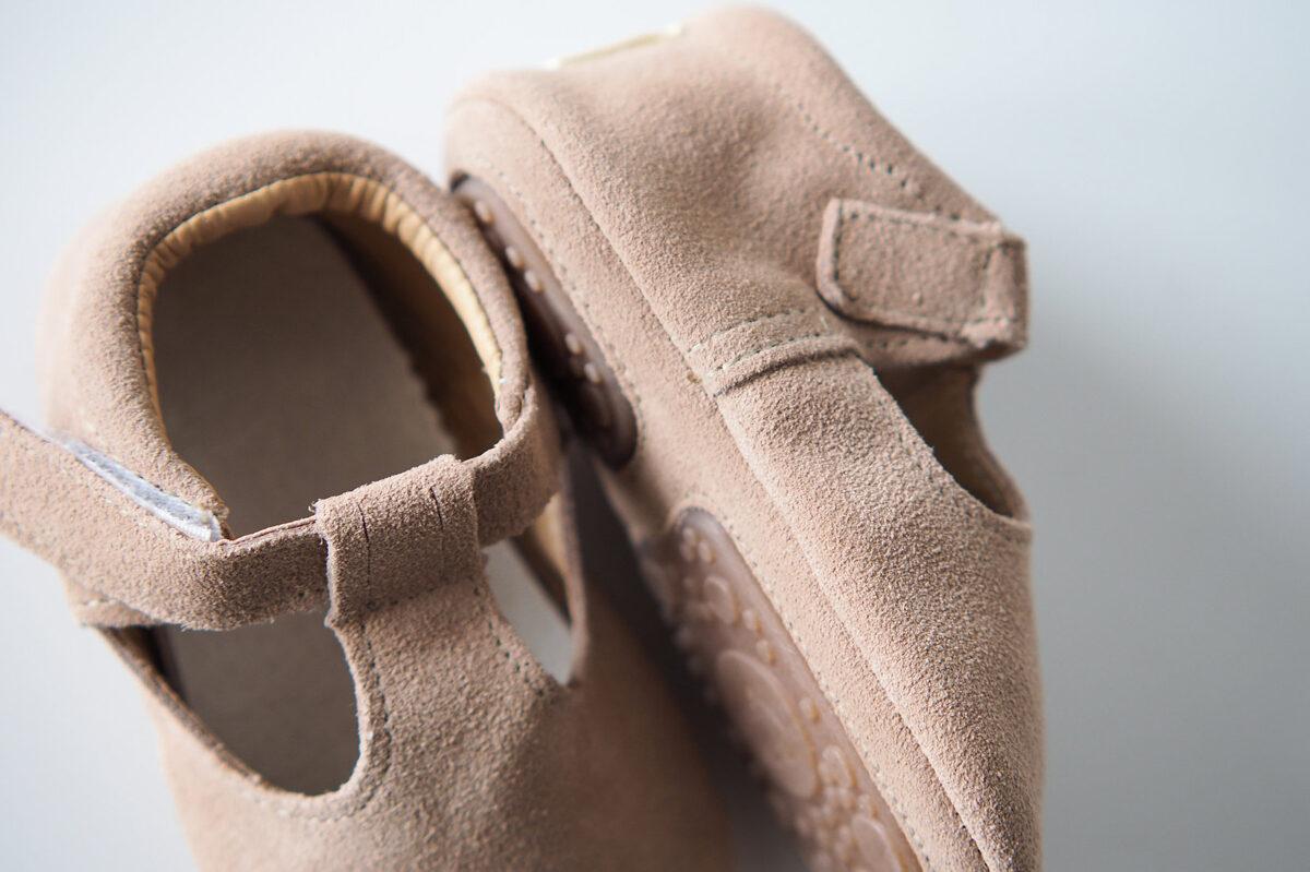 Zamšādas sandalītes - Dusty pink