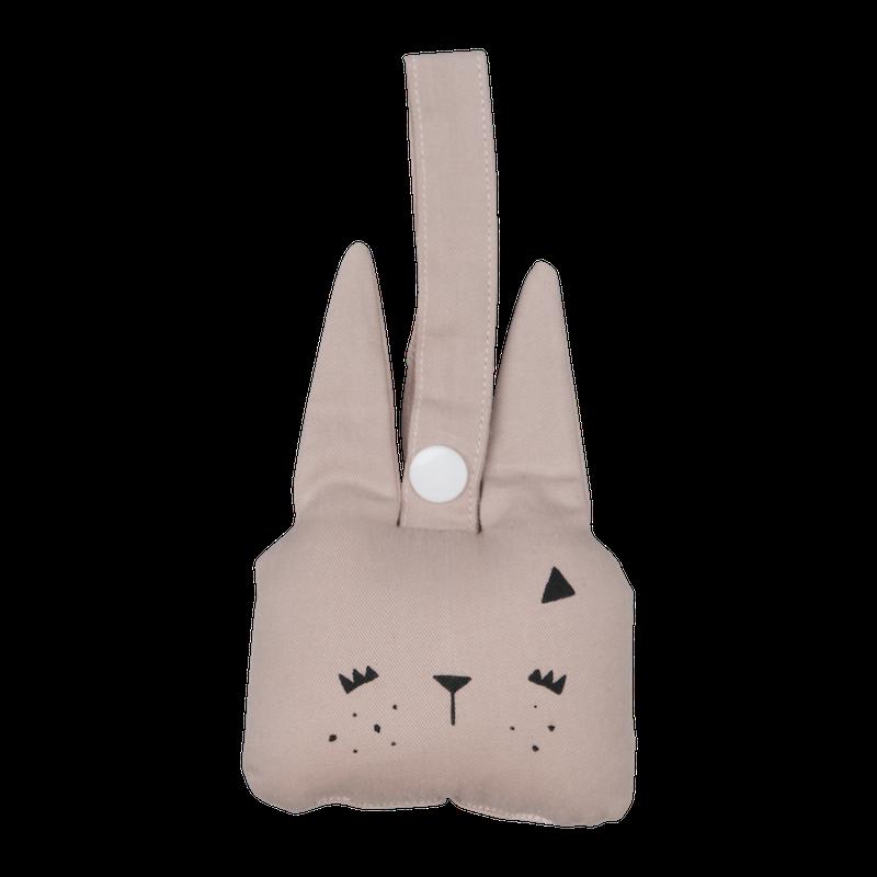 Mazuļu grabulītis - Fabelab Bunny Mauve (Rozā trusītis)