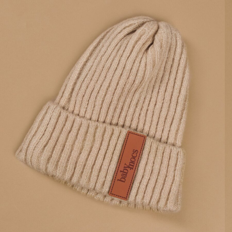 Baby Mocs - Beanie cepure bēša