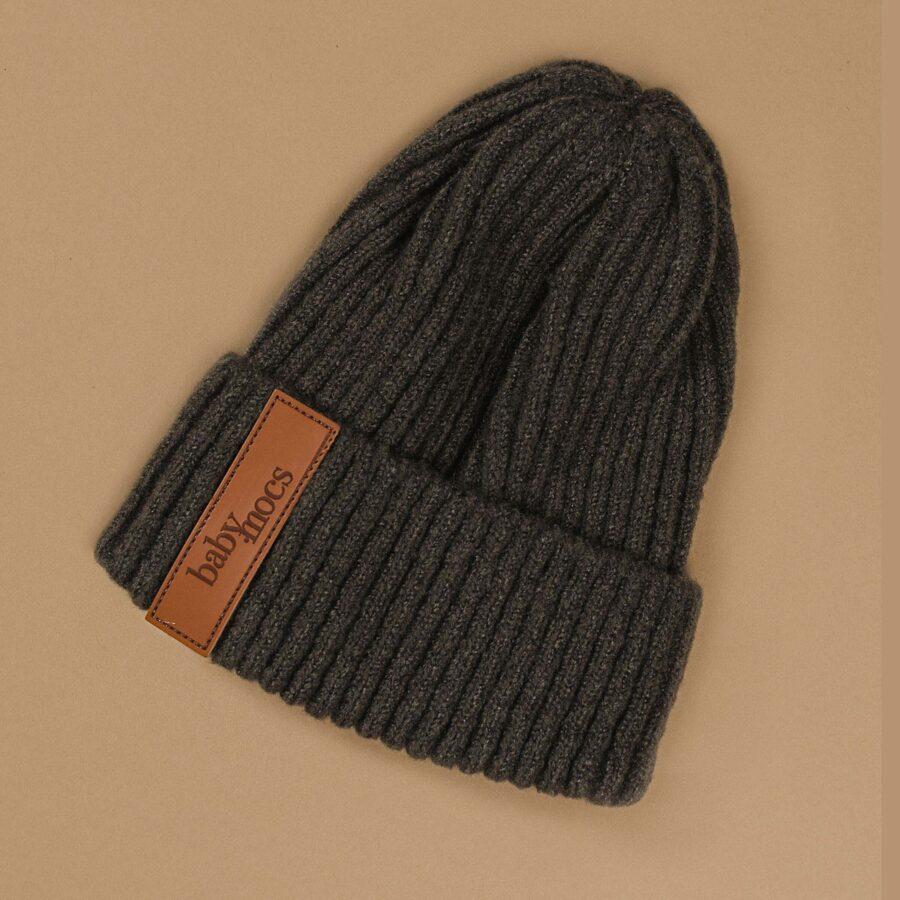 Baby Mocs - Beanie cepure tumši pelēka