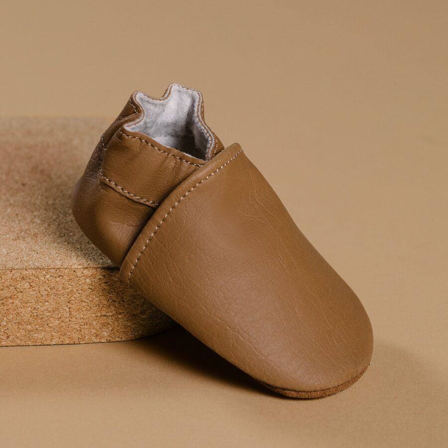 Mazuļu čībiņas - BabyMocs Barefoot [Cognac]