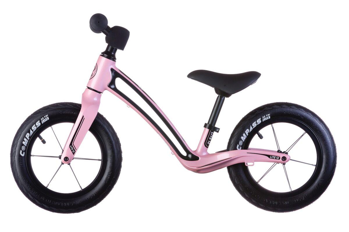 """Bungi Bungi 12"""" līdzsvara ritenis rozā krāsā"""