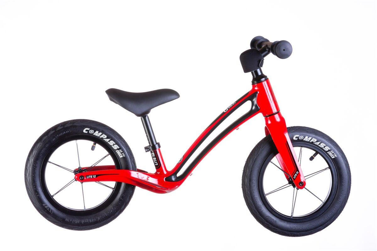"""Bungi Bungi 12"""" līdzsvara ritenis sarkanā krāsā"""