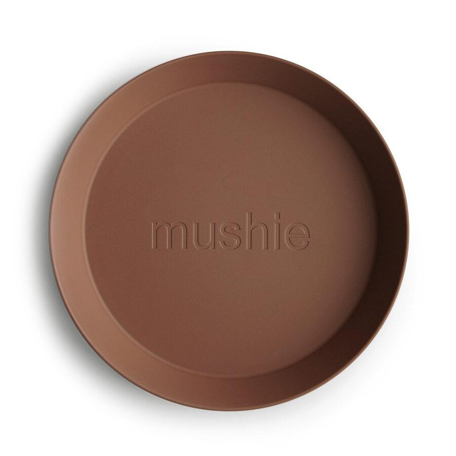 Mushie - šķīvis 2 gb / Caramel