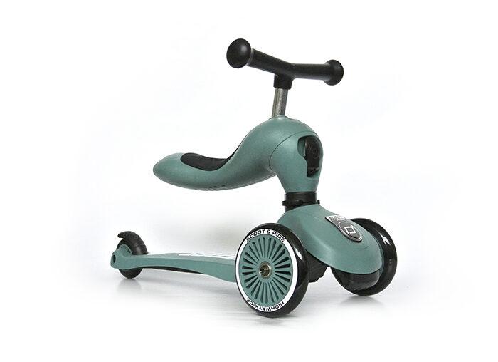 Scoot and Ride - Highway kick 2 in 1 meža zaļā krāsā
