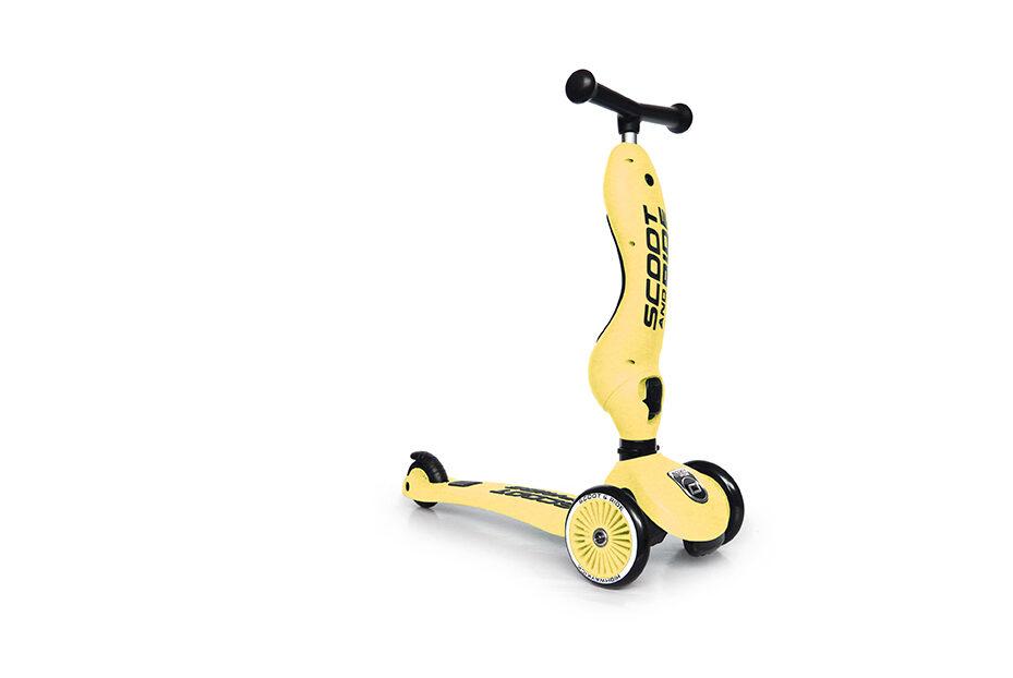Scoot and Ride - Highway kick 2 in 1 dzeltenā krāsā