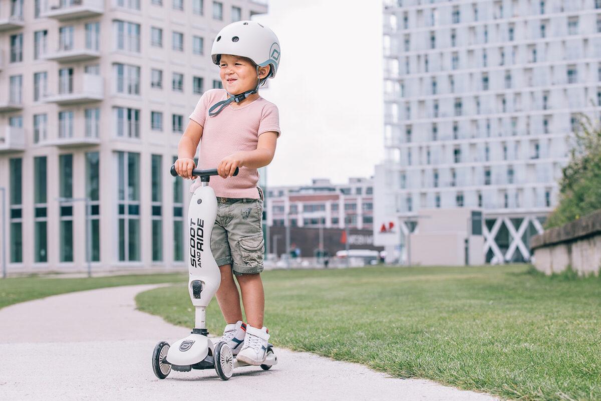 Scoot and Ride - Highway kick 2 in 1 pelnu pelēkā krāsā