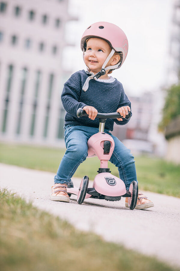 Scoot and Ride - Highway kick 2 in 1 rožu rozā krāsā