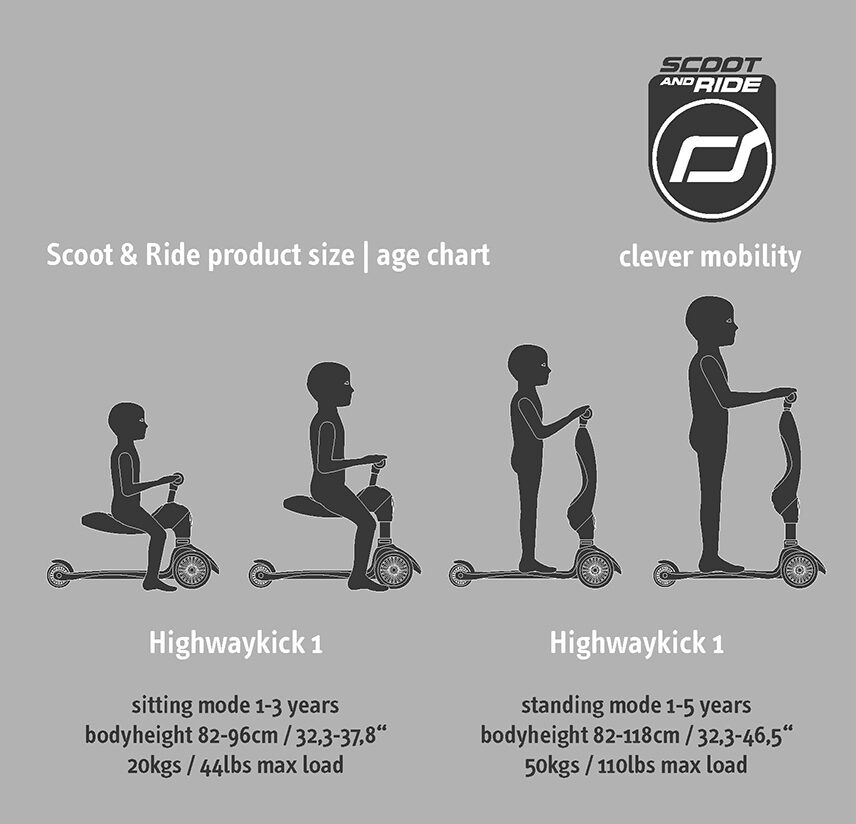 Scoot and Ride - Highway kick 2 in 1 persiku krāsā