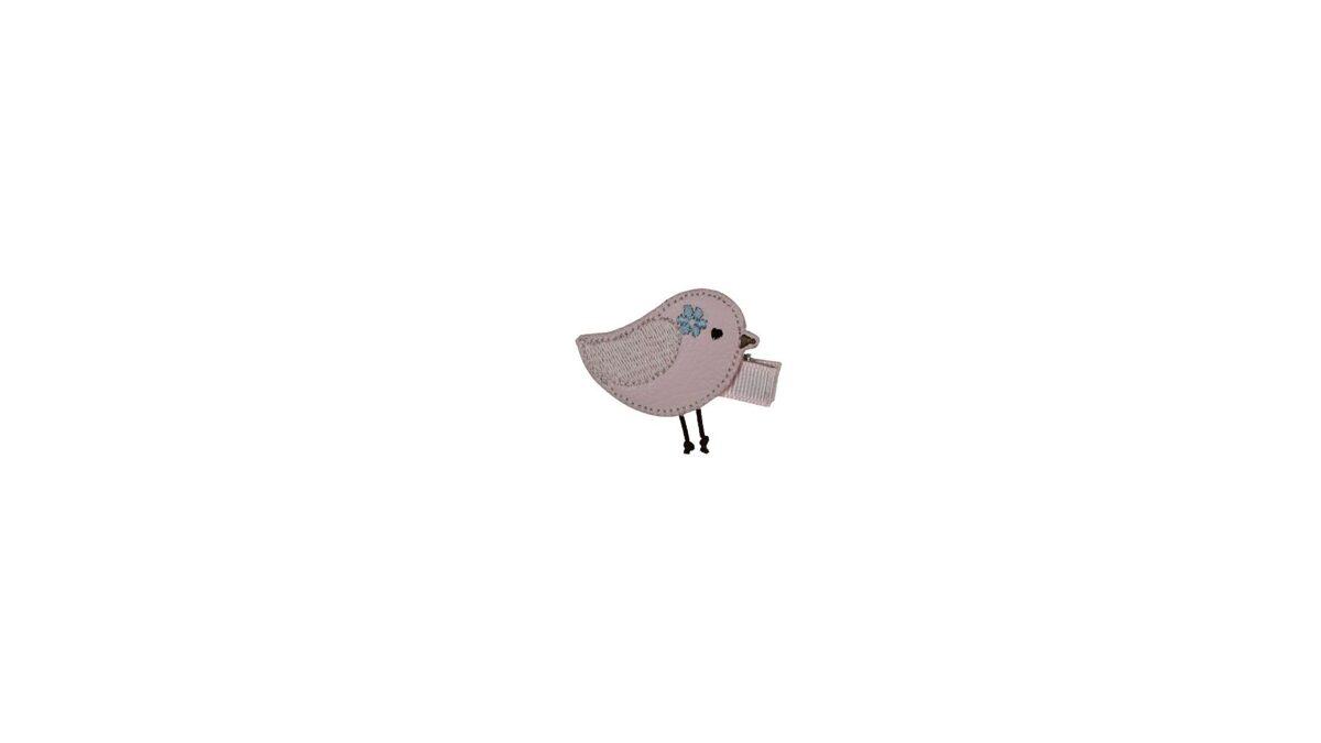 Matu sprādze - Ādas putniņš [rozā]