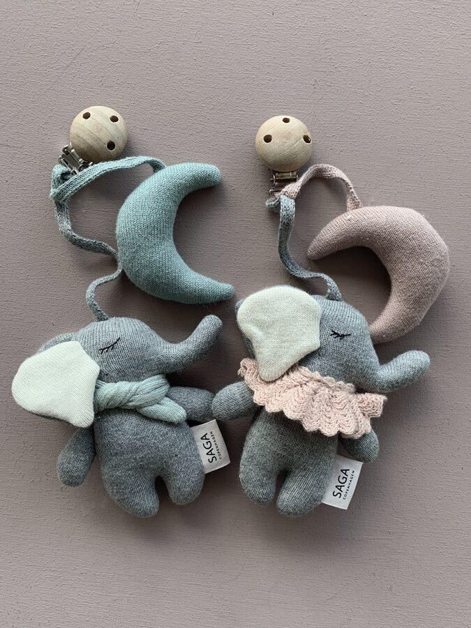 Saga Copenhagen - Ratu rotaļlieta zilonītis mākoņu zils (Cloud blue)