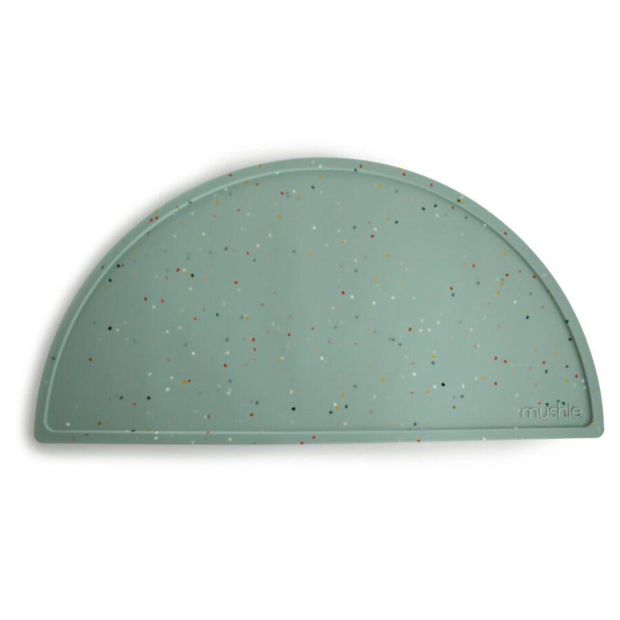 Mushie - silikona paliktnis / Cambridge Blue Confetti