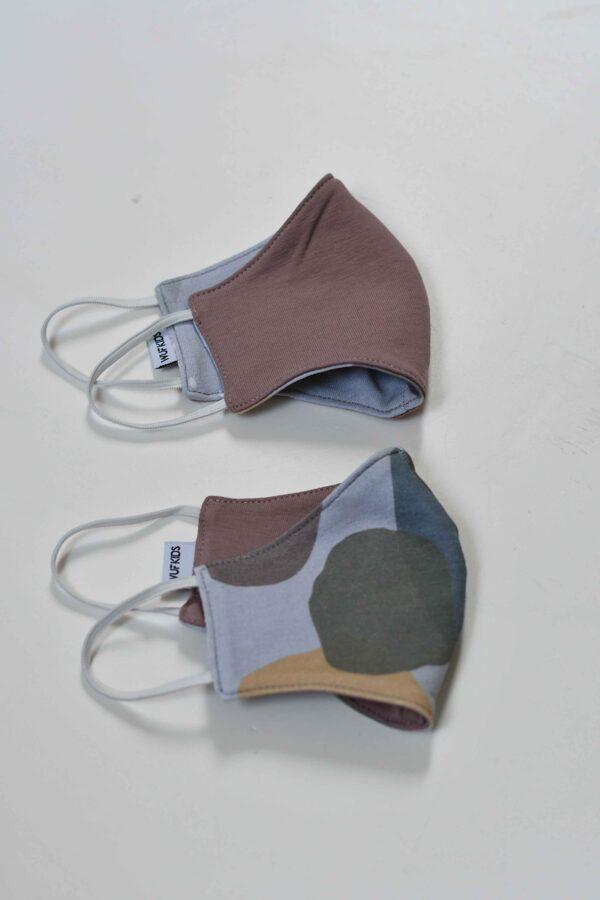 Sejas aizsargmaska - Krāsu traipi (Zili) / Rozīga divpusēja (bērnu)
