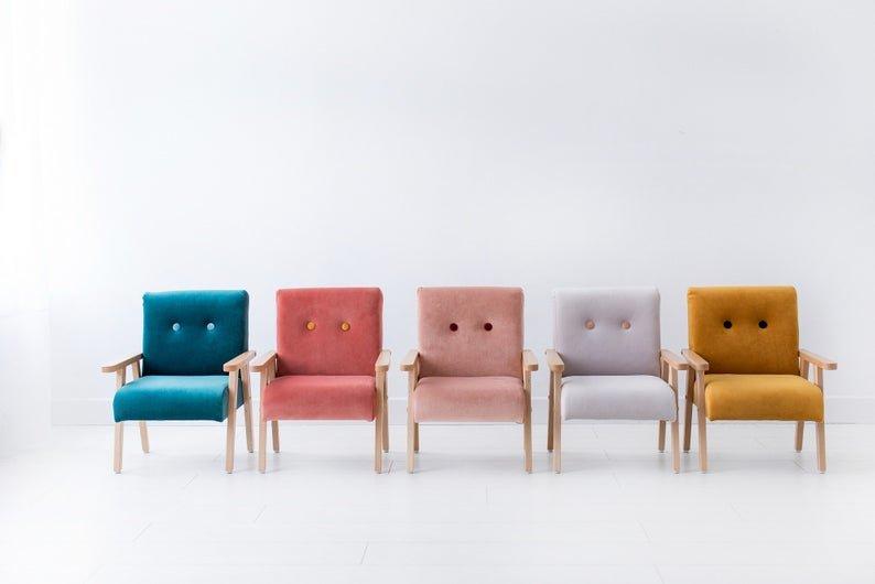Bērnu klubkrēsls - Sinepju