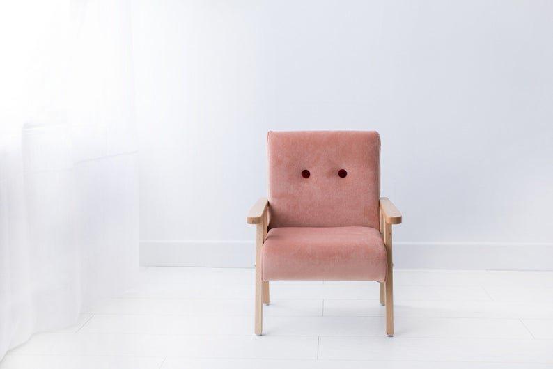 Bērnu klubkrēsls - Gaiši rozā