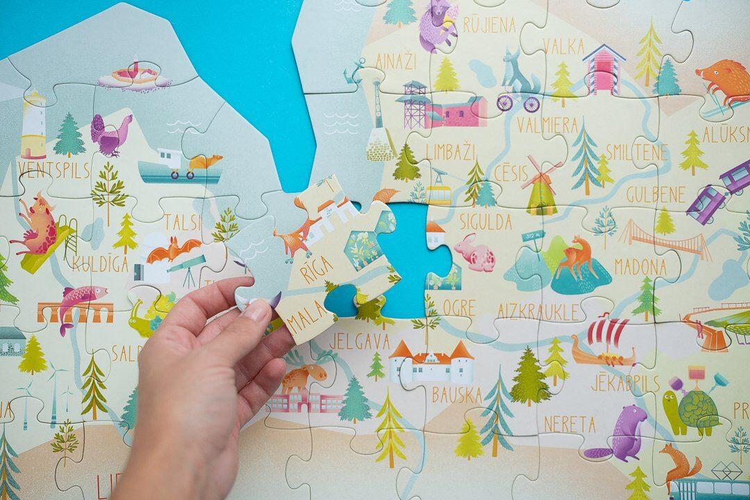 Latvijas kartes puzle
