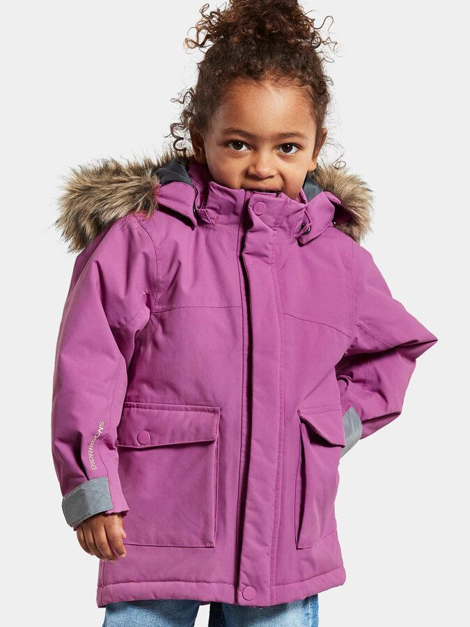 Didriksons ziemas parka - Kure Kid's Parka 4 [Radiant purple]