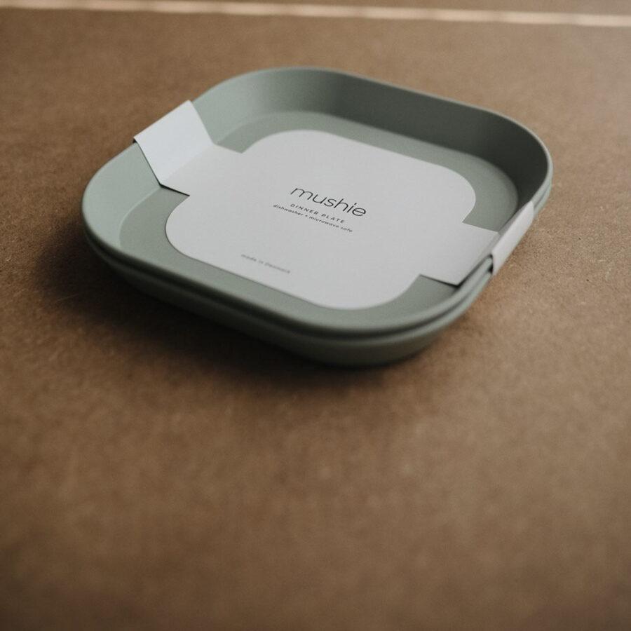 Mushie - šķīvis 2 gb / Sage