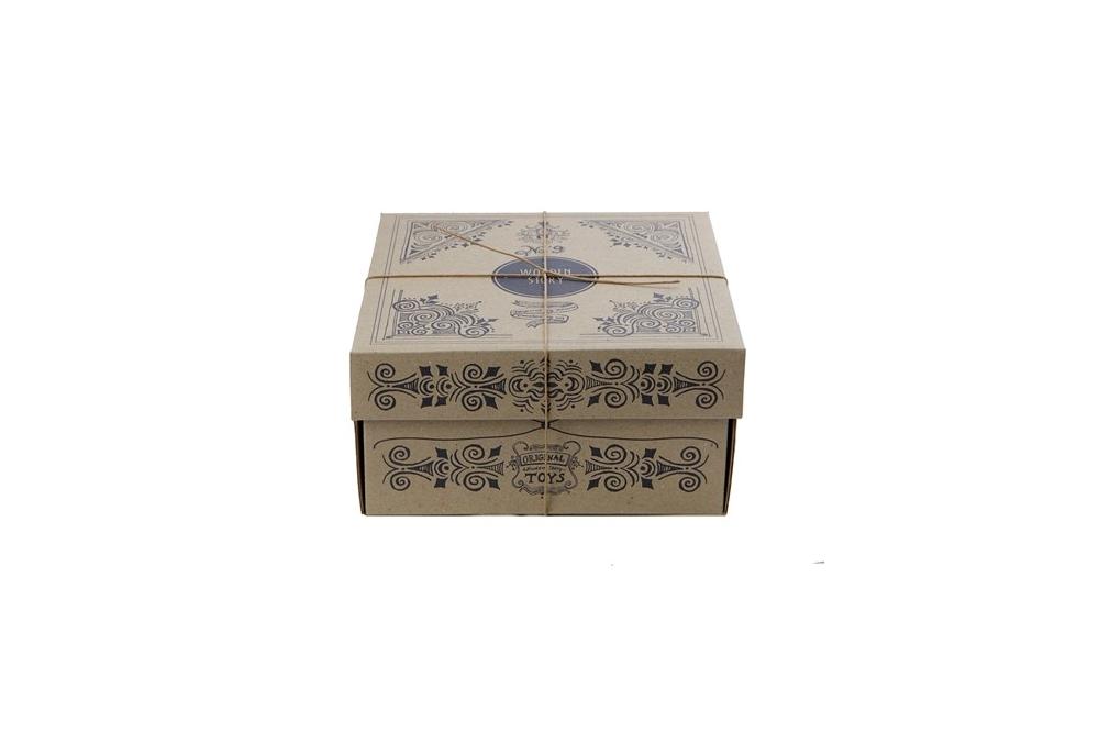 Wooden story krāsaina šķirošanas kaste