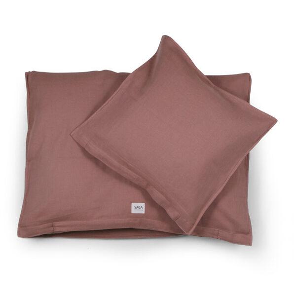 Saga Copenhagen - gultas veļas komplekts sārti brūnā krāsā
