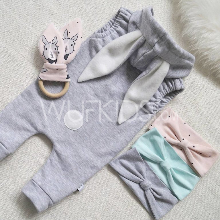 Bunny romper in three colors
