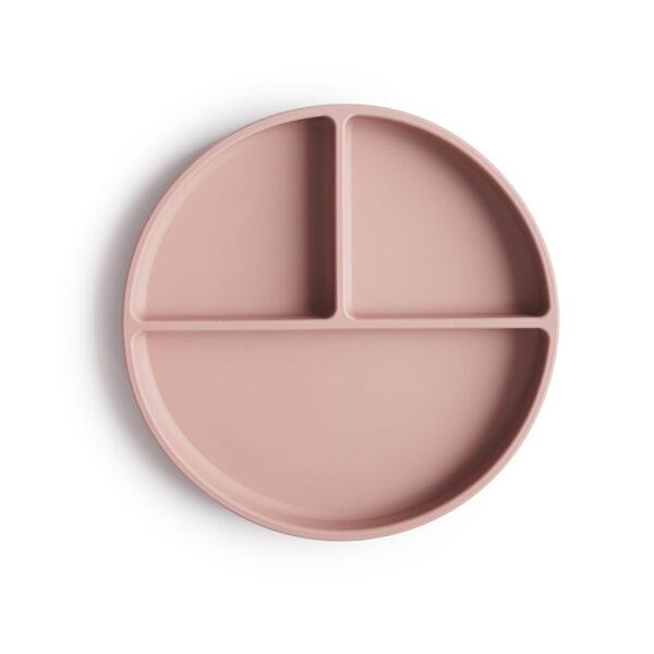 Mushie - silikona šķīvis / Blush