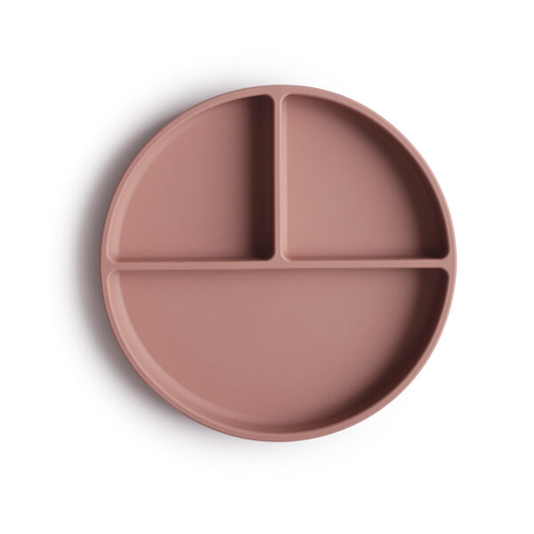 Mushie - silikona šķīvis / Cloudy mauve