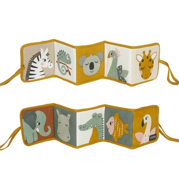 Roommate DK - Auduma dzīvnieku grāmata (Džungļi)