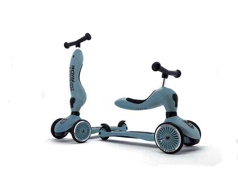 Scoot and Ride - Highway kick 2 in 1 tērauda zils