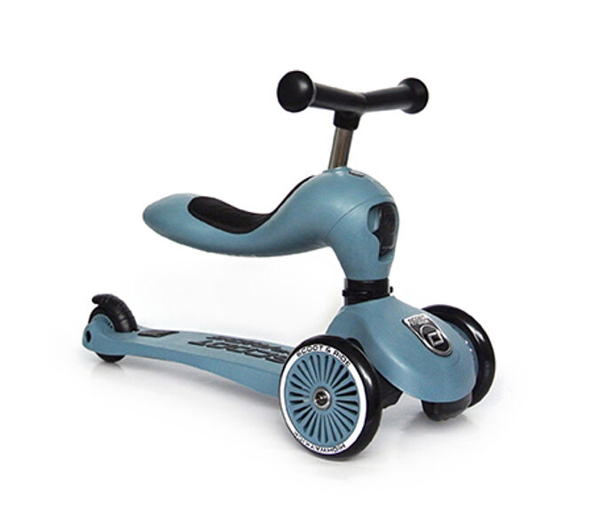 Scoot and Ride - Highway kick 2 in 1 tērauda zils