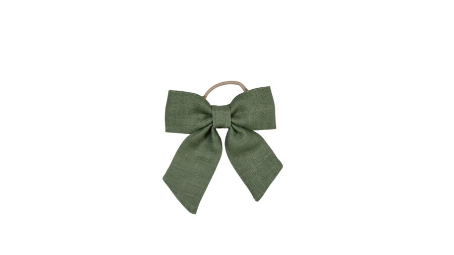 Matu gumija - Zaļa lina bante [lielā]