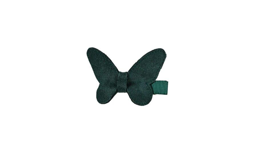 Matu sprādze - Zamšādas taurenītis [tumši zaļš]