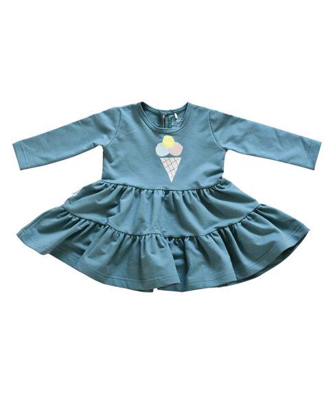 Kleita - Zili zaļa ar saldējumu
