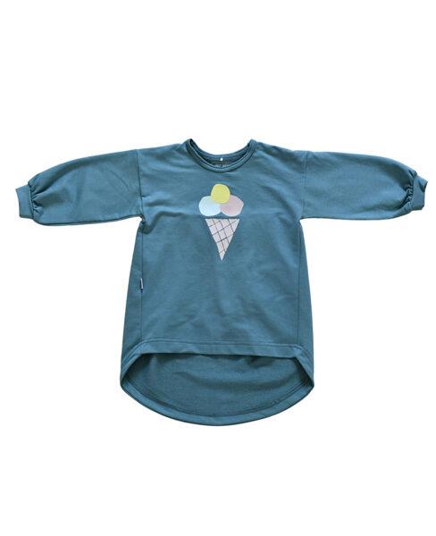 Tunika - Zili zaļa ar saldējumu