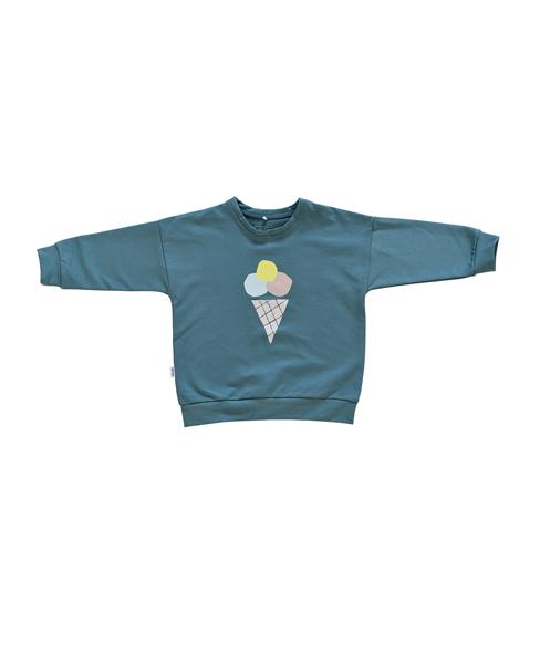Džemperis ar saldējumu - Zili zaļš