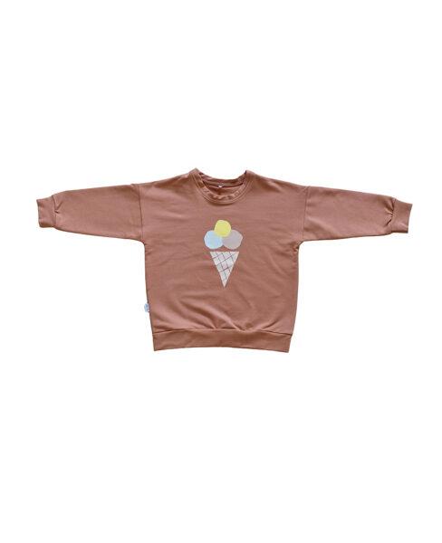 Džemperis ar saldējumu - Saulrieta oranžs
