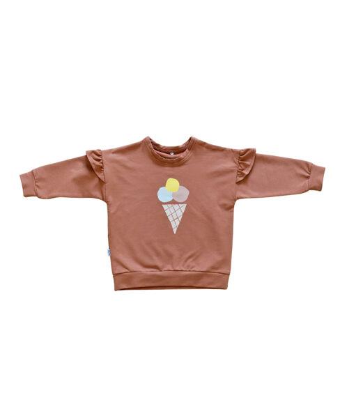 Džemperis ar saldējumu - Saulrieta oranžs [ar volāniem]