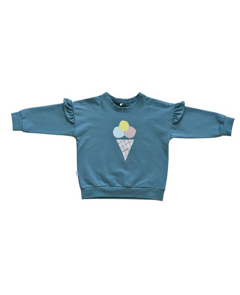 Džemperis ar saldējumu - Zili zaļš [ar volāniem)