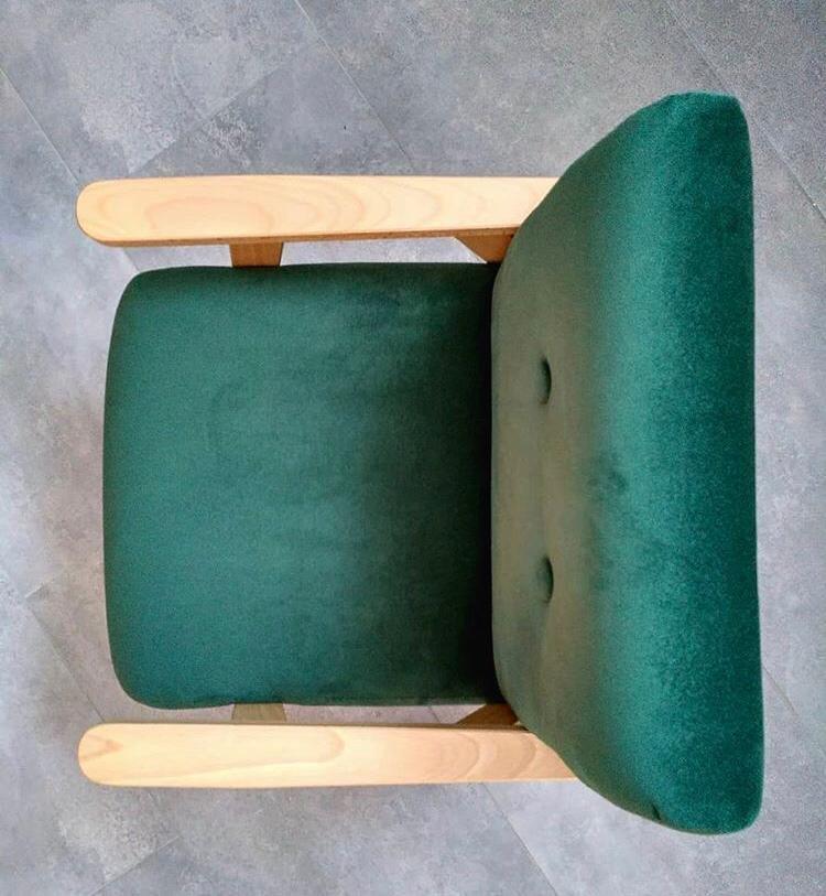 Bērnu klubkrēsls - Zaļš