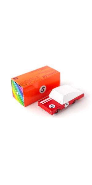 Candylab - Red Racer Nr.5 koka automašīna [mazā]
